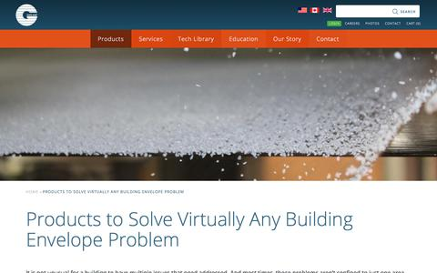 Screenshot of Products Page garlandco.com - Products to Solve Virtually Any Building Envelope Problem :: Garland - captured May 27, 2018