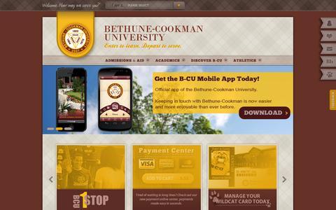 Screenshot of Home Page cookman.edu - Bethune-Cookman University - captured Oct. 5, 2014