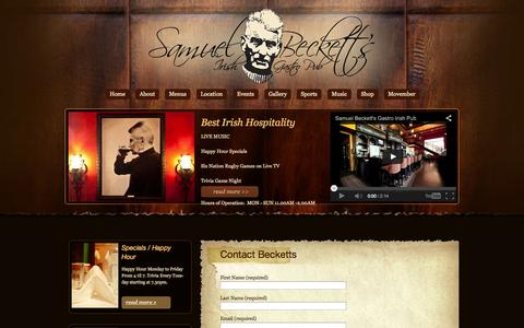 Screenshot of Contact Page samuelbecketts.com - Contact Becketts - captured Oct. 4, 2014