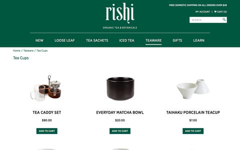 Buy Ceremonial Tea Cups | Rishi Tea