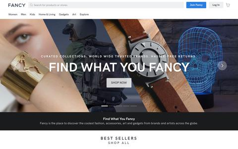 Screenshot of Home Page fancy.com - Fancy.com | Fancy What You Find & Buy What You Fancy! - captured Oct. 11, 2019