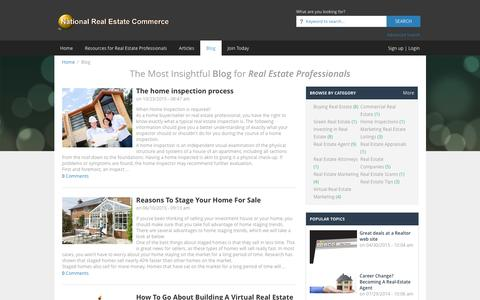 Screenshot of Blog nationalrealestatecommerce.com - Real Estate: The Most Resourceful Real Estate Blog | NationalRealEstateCommerce.com - captured Jan. 13, 2016