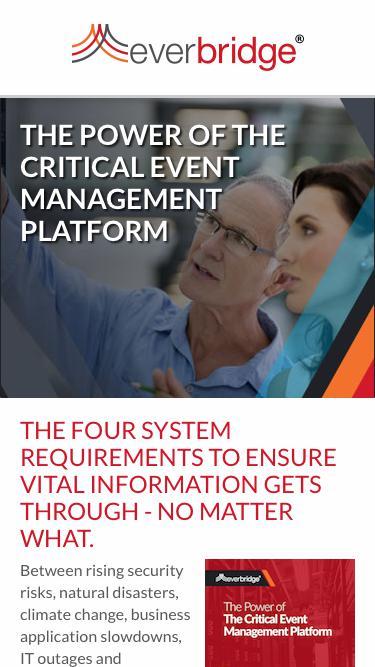 Power of Critical Event Management Platform