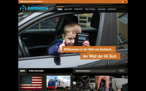 Screenshot of Home Page rambach-industrie.de - Home page - captured Oct. 7, 2014