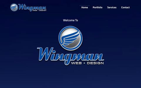 Screenshot of Home Page Site Map Page wingmanwebdesign.com - Wingman Web+Design | San Antonio Web Design | Graphic Design | Online Marketing - captured Oct. 8, 2014