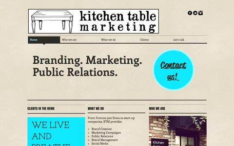 Screenshot of Home Page kitchentablepr.com - Kitchen Table Marketing and PR - captured Nov. 27, 2016