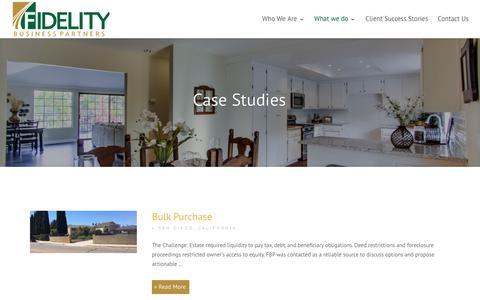 Screenshot of Case Studies Page fidelitybps.com - Case Studies - Fidelity Business Partners - captured Oct. 10, 2018