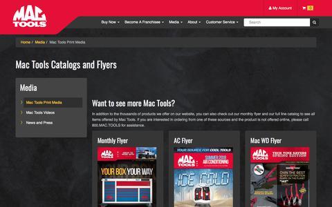 Screenshot of Press Page mactools.com - Catalogs and Flyers | Mac Tools - captured May 2, 2018