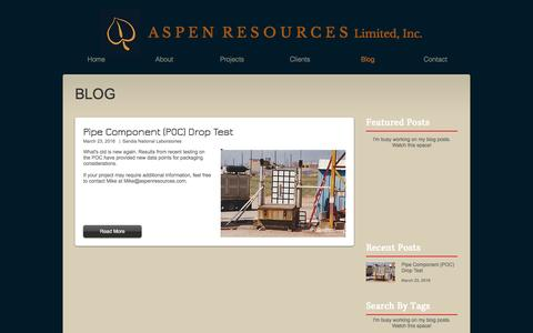 Screenshot of Blog aspenresources.com - aspenresources | Blog - captured Nov. 21, 2016