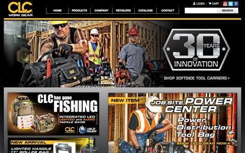 Screenshot of Home Page goclc.com - CLC Work Gear - captured Sept. 22, 2015