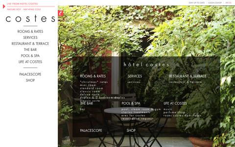 Screenshot of Site Map Page hotelcostes.com - Sitemap - hôtel costes - captured Sept. 25, 2014