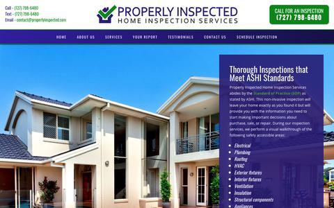 Screenshot of Services Page properlyinspected.com - Services   Properly Inspected Home Inspection Services - captured Nov. 11, 2018