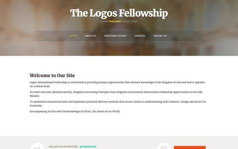 Screenshot of Home Page thelogosfellowship.org - Welcome to Our Site - Logos International Training Centers - captured Nov. 7, 2018