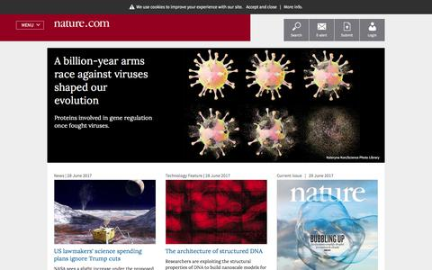 Nature Research: science journals, jobs, information and services.
