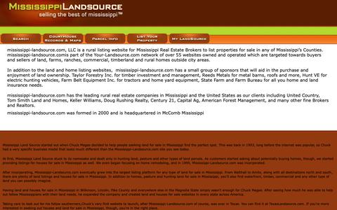Screenshot of About Page mississippi-landsource.com - About US | Mississippi land | Mississippi-landsource.com - captured Oct. 18, 2018