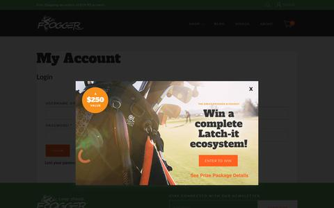 Screenshot of Login Page froggergolf.com - My Account - Frogger Golf - captured Oct. 11, 2018