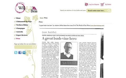 Screenshot of Press Page willandbess.com - Press - captured Oct. 9, 2014