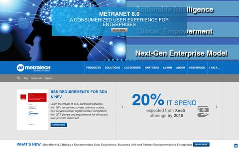 Screenshot of Home Page metratech.com - Subscription and Enterprise Billing | MetraTech - captured Sept. 12, 2014