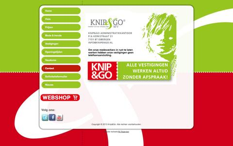 Screenshot of Contact Page knipengo.nl - Contactpagina Knip & Go - captured Oct. 6, 2014