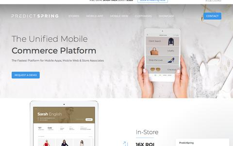 The Unified Mobile Commerce Platform | PredictSpring