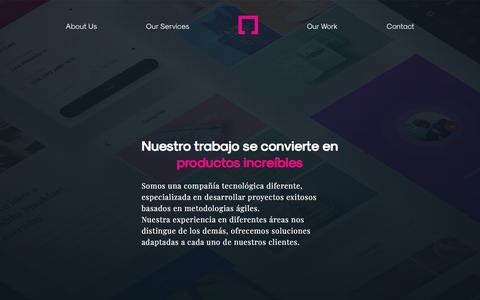 Screenshot of Services Page justdigital.agency - JustDigital: qué hacemos. - captured July 7, 2018