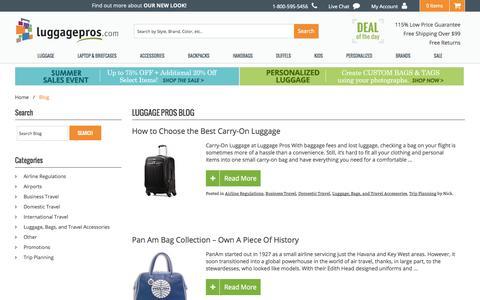 Screenshot of Blog luggagepros.com - Luggage Pros Blog - captured Sept. 24, 2014