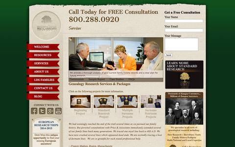 Screenshot of Services Page pricegen.com - Services | - captured Oct. 2, 2014