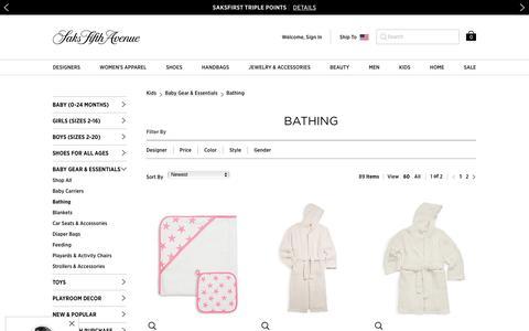 Baby Bathing & Towels | Saks.com