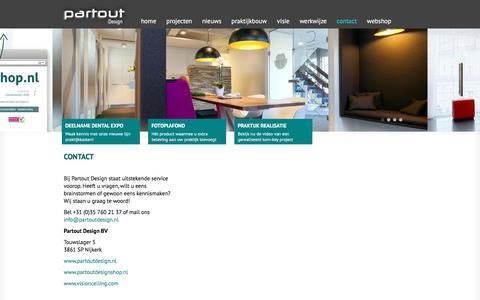Screenshot of Contact Page partoutdesign.nl - Contact Partout Design Specialist in Praktijkinrichting - captured Jan. 26, 2016