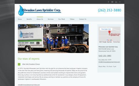 Screenshot of Team Page milwaukeelawnsprinkler.com - Expert Team   Lawn Sprinklers   Menomonee Falls, WI   Milwaukee Lawn - captured Nov. 14, 2017