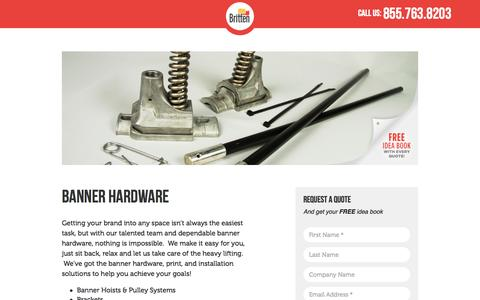 Screenshot of Landing Page brittenstudios.com - Banner Hardware | Britten Studios - captured Oct. 28, 2014
