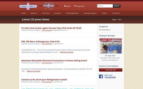 Screenshot of Press Page cdjones.com - News - Charles D. Jones - captured Oct. 2, 2014