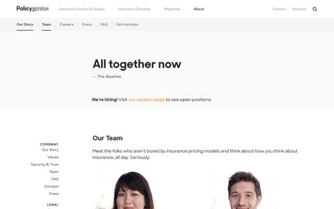 Team Page | Get insurance advice, compare quotes & buy