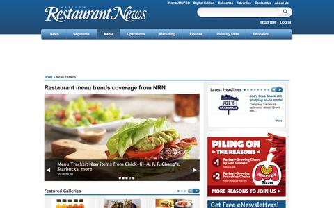Screenshot of Menu Page nrn.com - Menu Trends   Nation's Restaurant News - captured Jan. 14, 2016