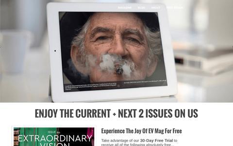 Screenshot of Trial Page extraordinary-vision.com - EV Mag - captured Nov. 14, 2016
