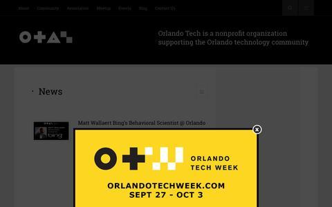 Screenshot of Press Page orlandotech.org - News   Orlando Tech - captured Nov. 2, 2014
