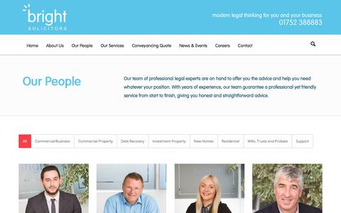 Screenshot of Team Page brightllp.co.uk - People | Bright Solicitors | Plymouth Commercial Law Firm - captured Oct. 11, 2017