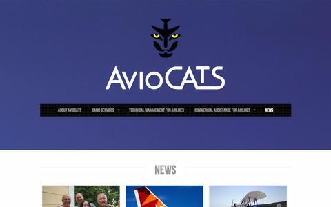 Screenshot of Press Page aviocats.com - AvioCATS  |  News Section - captured Sept. 30, 2014