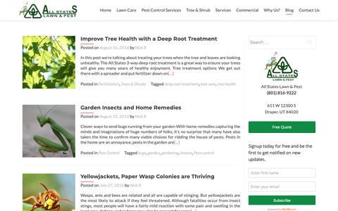 Screenshot of Blog thegreenpest.com - Pest Control & Lawn Care Draper, UT | All States Lawn & Pest - captured Oct. 3, 2018