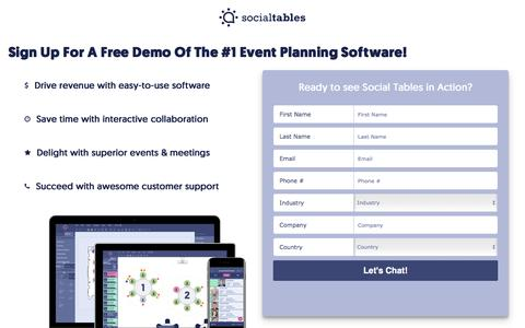See A Free Demo Of Social Tables Event Planning Software
