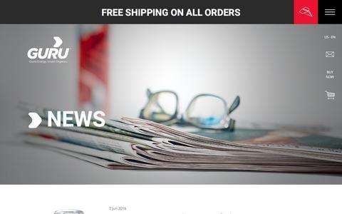Screenshot of Press Page guruenergy.com - News - captured Oct. 18, 2016