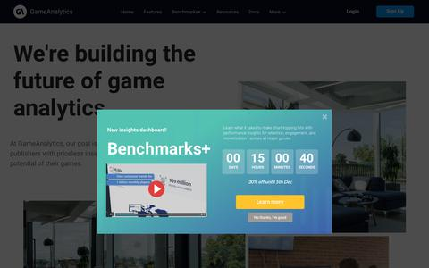 Screenshot of About Page gameanalytics.com - We Help You Make Games People Love - GameAnalytics Team - captured Dec. 5, 2019