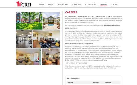 CAREERS | Capstone Real Estate Investment