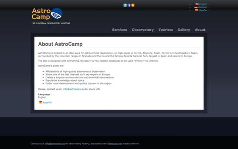 Screenshot of About Page astrocamp.es - About AstroCamp | www.astrocamp.es - captured Sept. 25, 2014