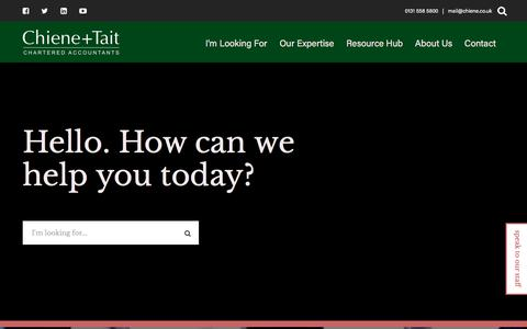 Screenshot of Home Page chiene.co.uk - Chiene + Tait – Chartered Accountants - captured Feb. 6, 2020