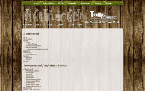 Screenshot of Site Map Page tromposaund.de - Tromposaund - Von Blasmusik bis Brass-Musik - Sitemap - captured Oct. 9, 2014
