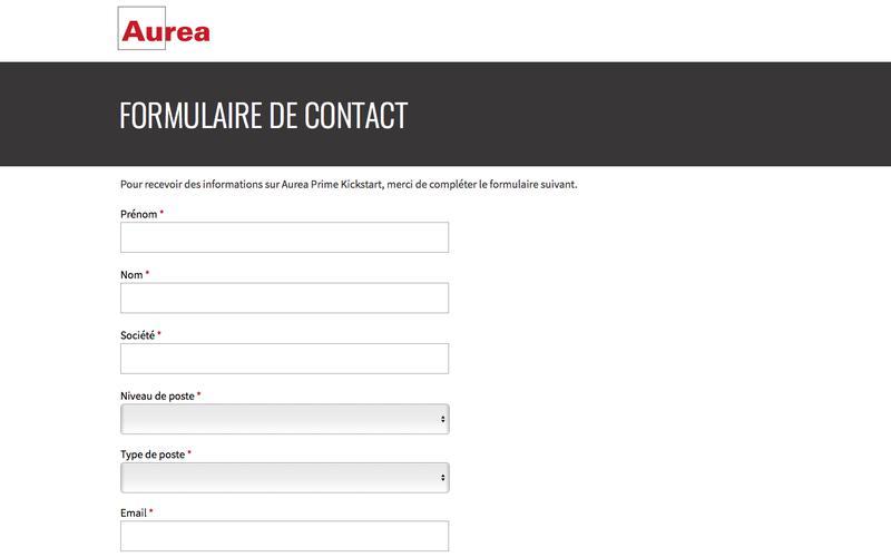 Aurea Prime Kickstart - Request for Contact | Aurea