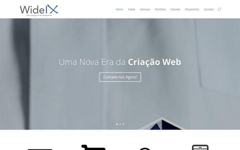 Screenshot of Home Page yuribett.com - Wide IX | Criação de Sites, Lojas Virtuais e SEO para todo Brasil - captured Oct. 7, 2014