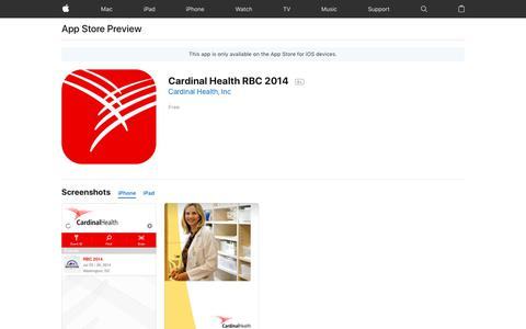 Cardinal Health RBC 2014 on the AppStore