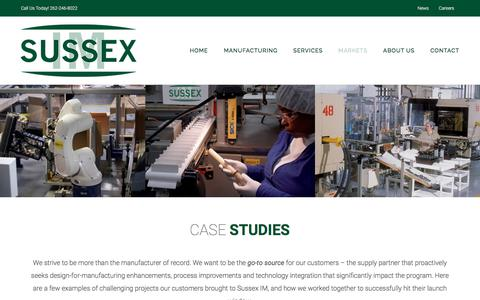Screenshot of Case Studies Page sussexim.com - Case Studies | Real World Solutions | Plastics Manufacturer - captured Sept. 21, 2018